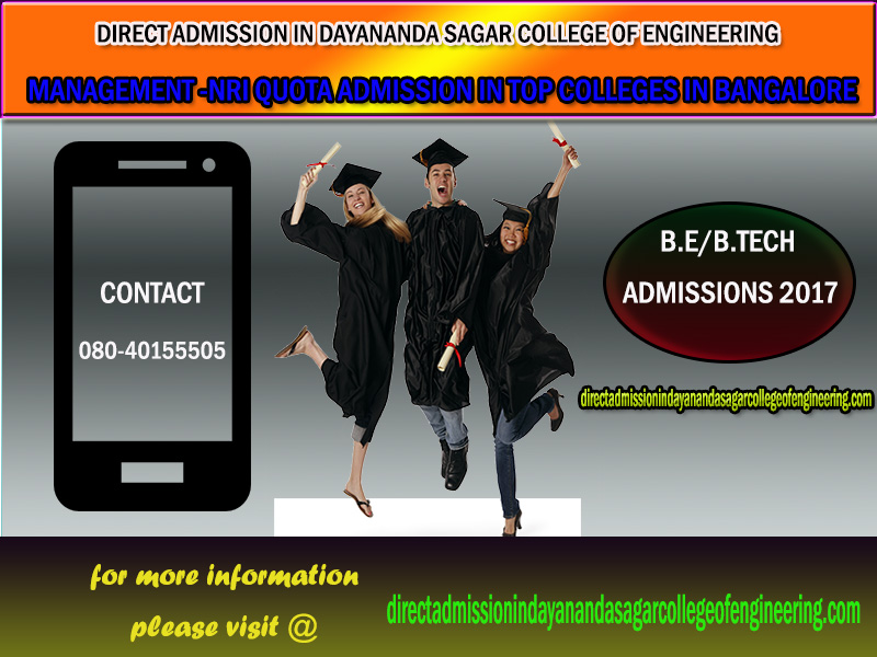 Direct admission in DAYANANDA SAGAR COLLEGE OF ENGINEERING, Bangalore 2017-18